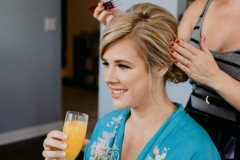Mimosas and updos!